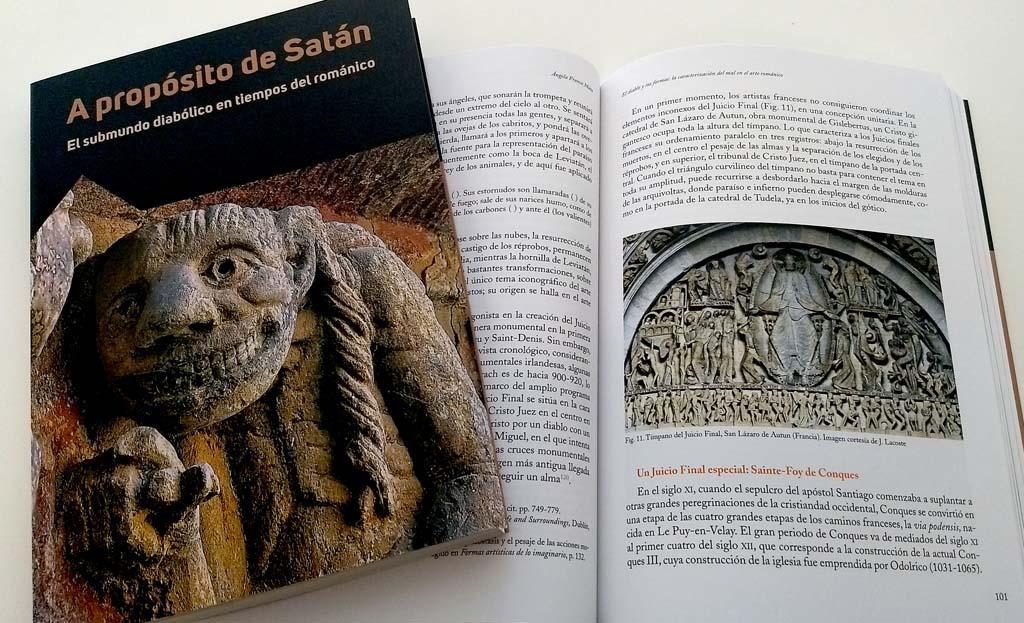 """Fotografía del libro """"A propósito de Satán. El submundo diabólico en tiempos del románico"""""""