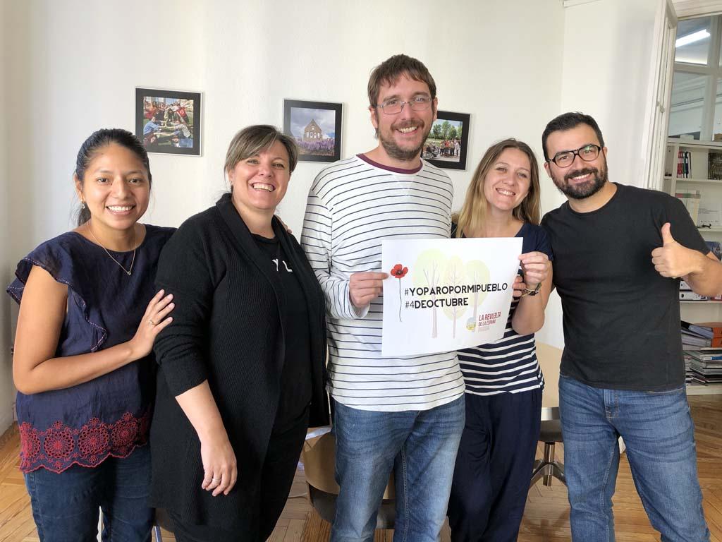 Trabajadores de Madrid se suman a la camapaña #YoParoPorMiPueblo