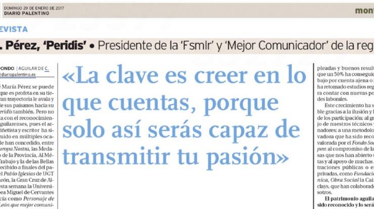 Entrevista Peridis, Diario Palentino