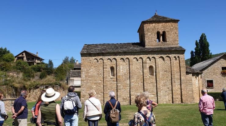 Visita a la iglesia de San Caprasio, Huesca 2019