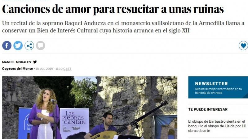 Vista de el artículo en El País edición digital