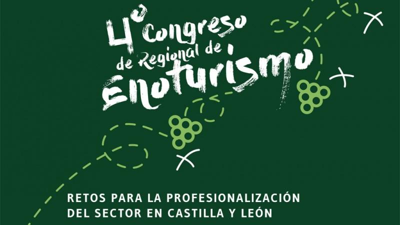 Detalle del cartel del Congreso de Enoturismo de Medina del Campo