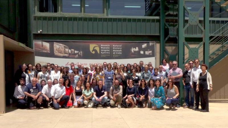 Foto de grupo de los participantes en el encuentro de trabajo RURITAGE celebrado en Creta