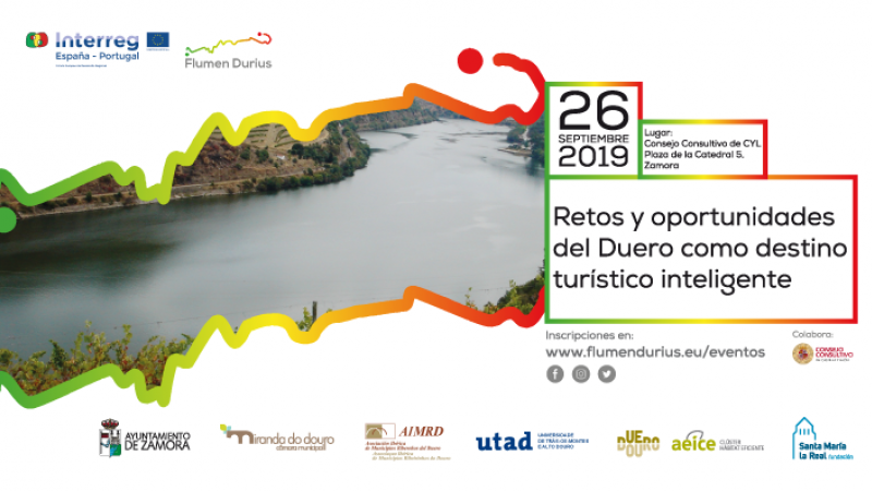 """Invitación a la jornada """"Retos y Oportunidades del Duero como destino turístico inteligente"""""""
