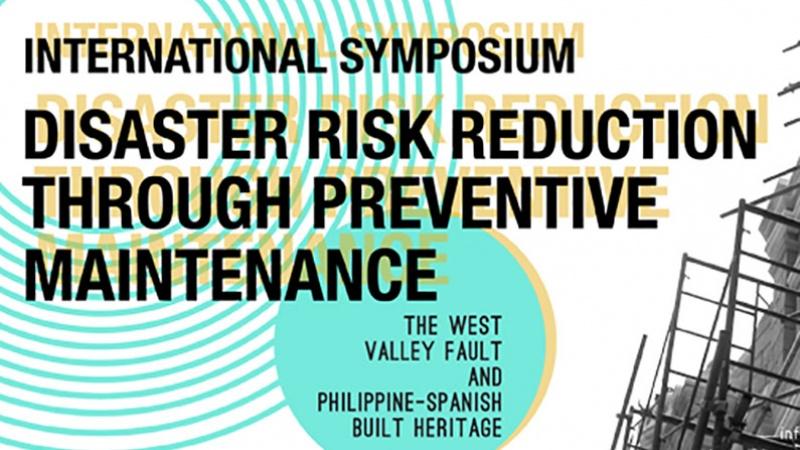 Banner del simposio Internacional de Manila, Filipinas