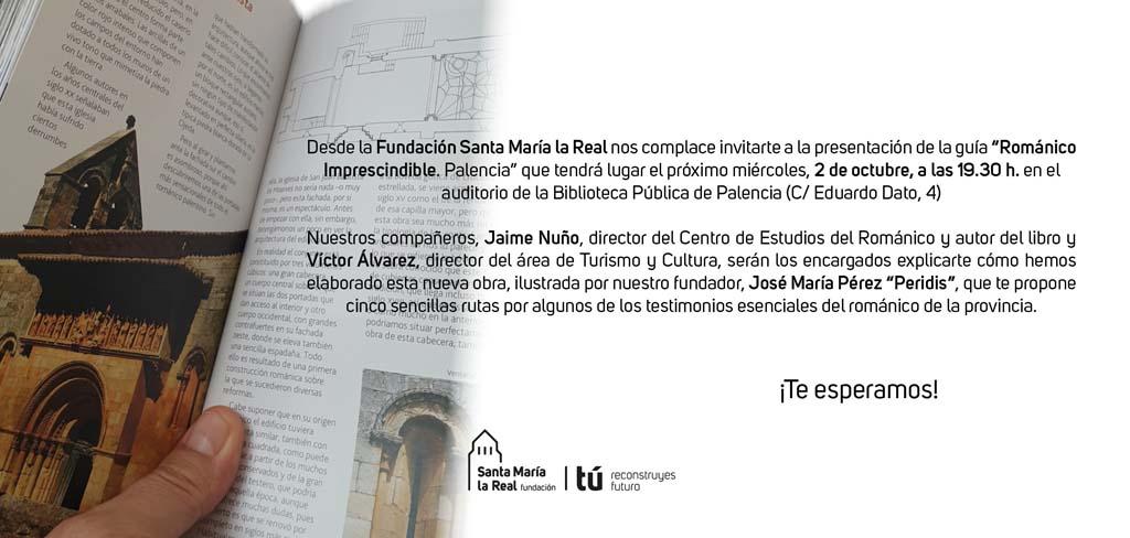 """Invitación para la presentación de la guía """"Románico Imprescindible. Palencia"""""""