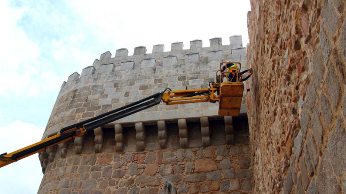 Instalación de MHS en la Muralla de Ávila