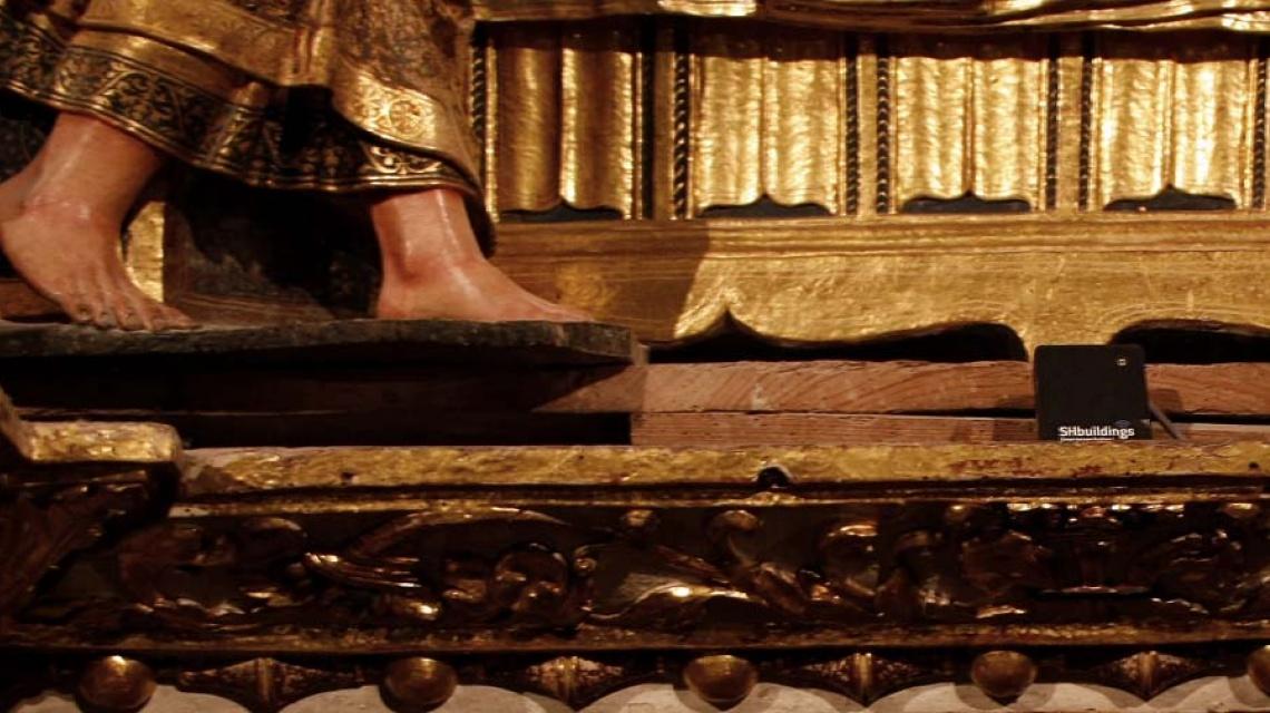 Detalle sensor, catedral Palencia Marce Alonso