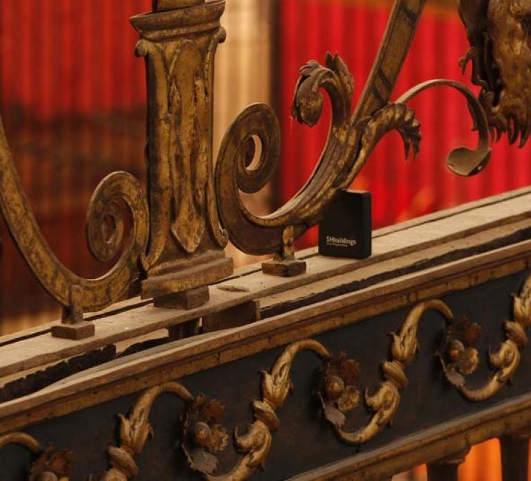 Sensor colocado en la catedral de Palencia