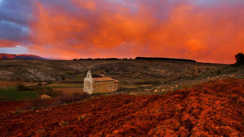 Atardecer en la ermita de Santa Eulalia_Barrio de Santa María_Palencia