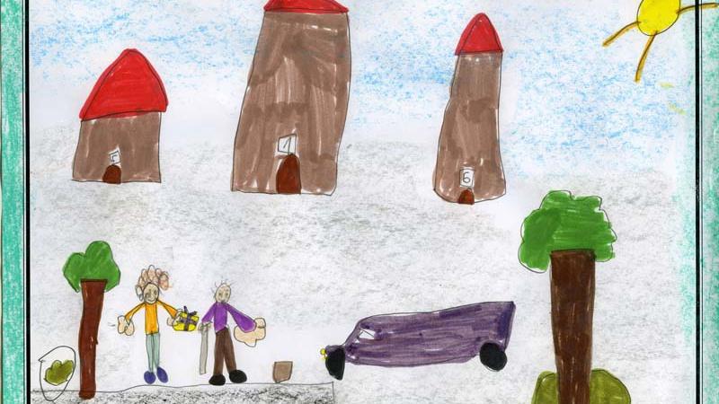 Dibujo presentado al II concurso Cosas de Abuelos