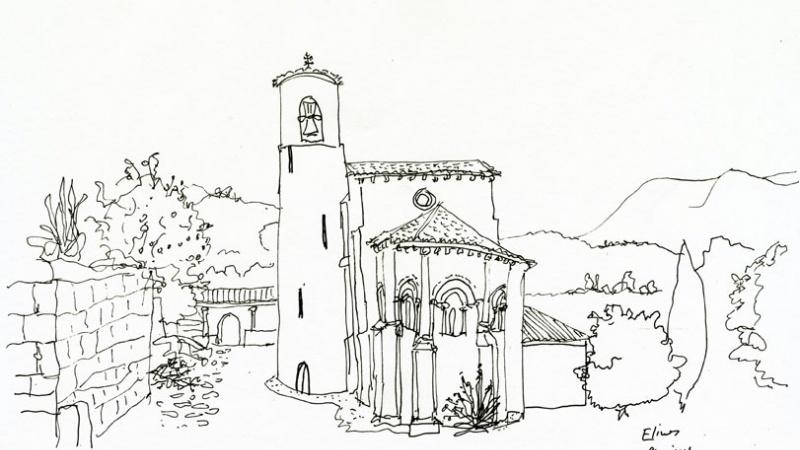 Dibujo Peridis, San Martín de Elines