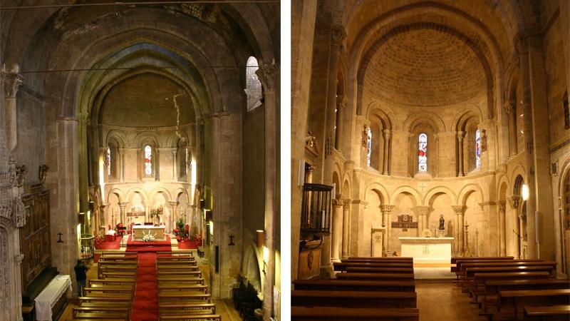 Antes y después de la restauración de la iglesia de la Trinidad en Segovia